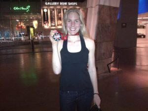 With my Las Vegas 1:2 marathon medal